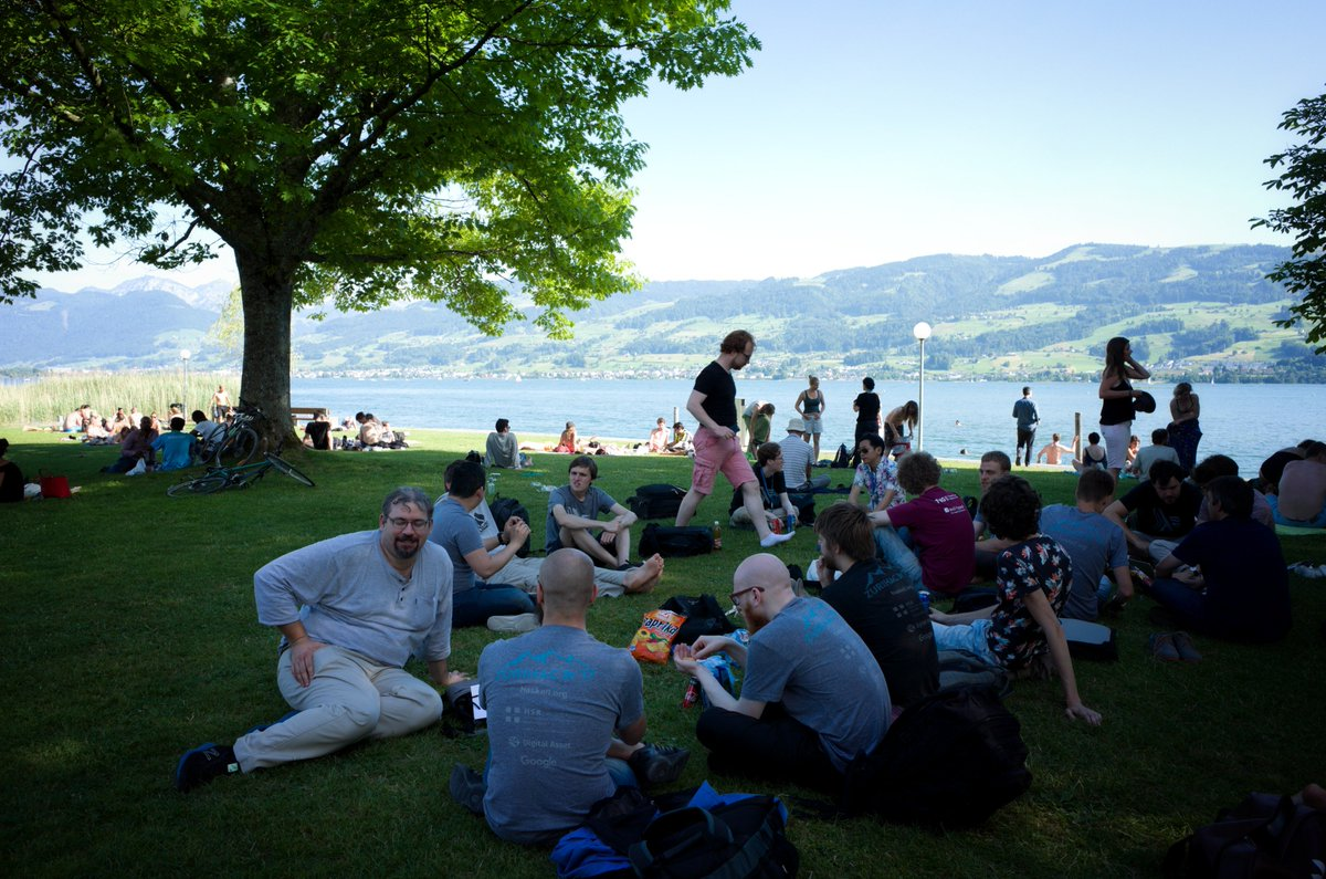 Haskellers by the lake in Rapperswil, Switzerland